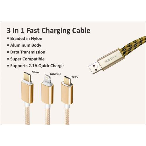 3 in 1 Fast Charging Cable