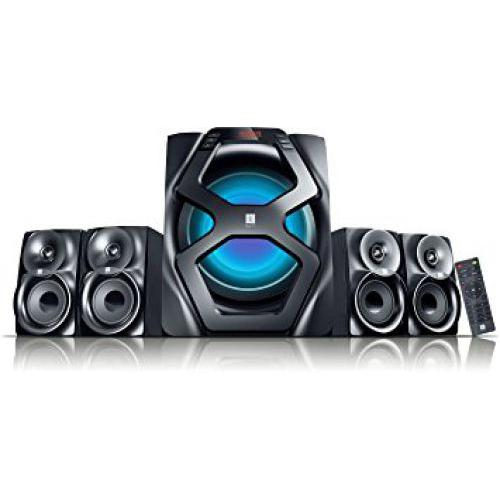 "iBall Breathless-BT49 4.1 Speaker AUX | USB | SD/MMC Built-in FM Radio 6.5"" Woofer Remote control"