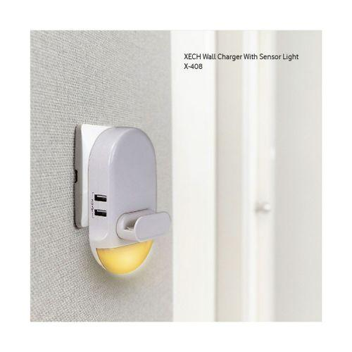 (Lumi Charge) Wall Charger With Sensor Light X-408