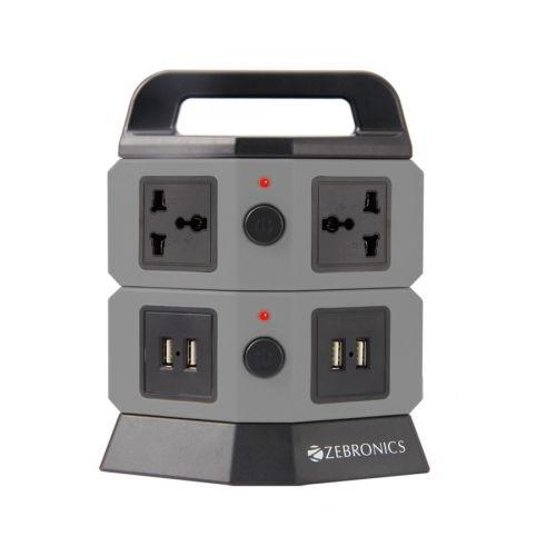 TS102 Power Extension Tower with 4 sockets 4 USB