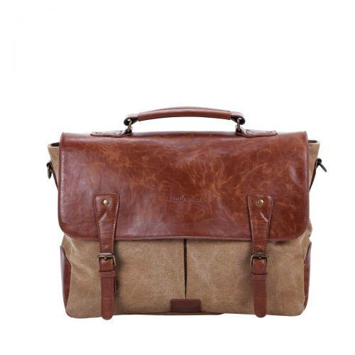 Portronics Unisex Elements Messenger Laptop Bag (Brown) POR 643