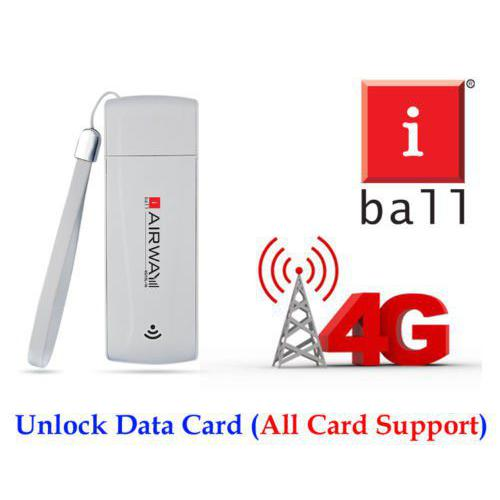 iBall 4G LTE Airway 4G15L-52 USB Modem Data Card Dongle with 4G Company Unlock