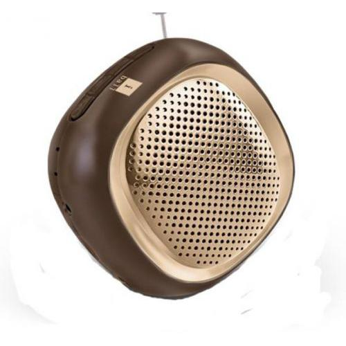 Iball Musi Cube With FM Radio-BT 20 Portable Bluetooth Mobile/Tablet Speaker  (Gold, 2.0 Channel)