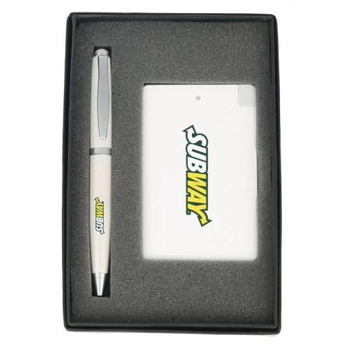 Gift Set Power Bank 2500 Mah and Pen