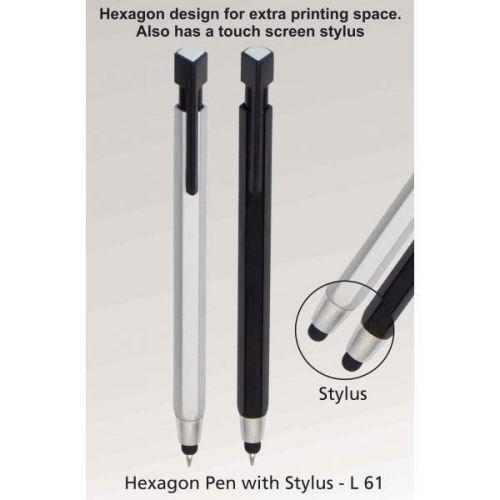 Hexagon pen with stylus