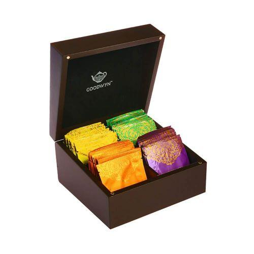 Goodwyn ALLURING CHEST 40 TEA BAGS - A ROYAL EXOTIC WOODEN TEA GIFT BOX