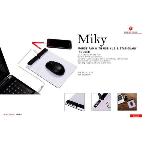 Miky MOUSEPAD WITH 3 PORT USB HUB UG-GC17