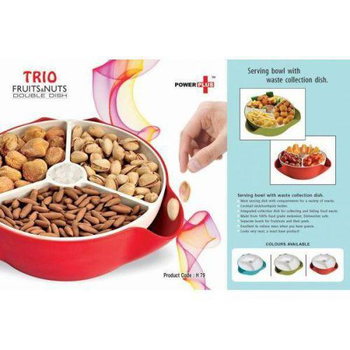 Fruit & Nuts Double Dish - Trio H79