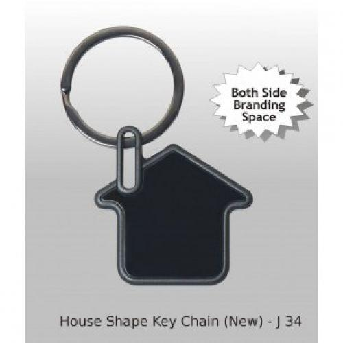HOUSE SHAPE KEY RING - 2 SIDE PRINTING SPACE J34