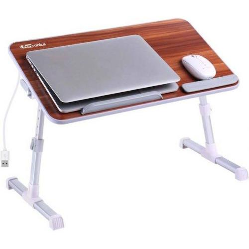 Portronics Laptop Cooling Stand Engineered Wood Portable Laptop Table  (Finish Color - Brown) POR 8