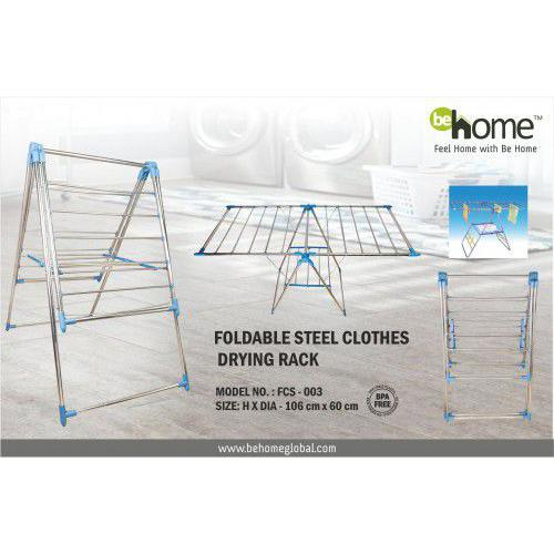 BeHome Foldable Steel Clothes Drying Rack FCS - 003