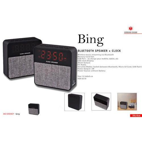 Bing Bluetooth Speaker + Clock  UG-GS05