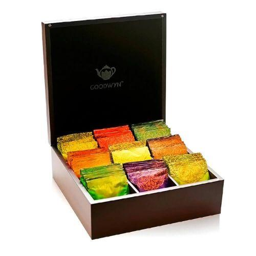 Goodwyn ALLURING CHEST 90 TEA BAGS- A ROYAL EXOTIC WOODEN TEA BOX