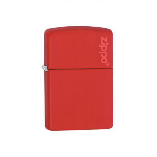 Red Matte With Zippo Logo Lighter ZIPPO