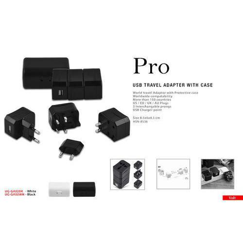 Pro Promotional USB Travel Adapter with Case