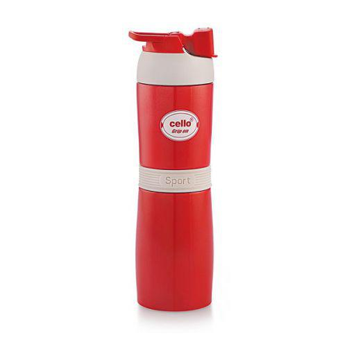 Cello Stainless Steel Flask Grip On 450ml
