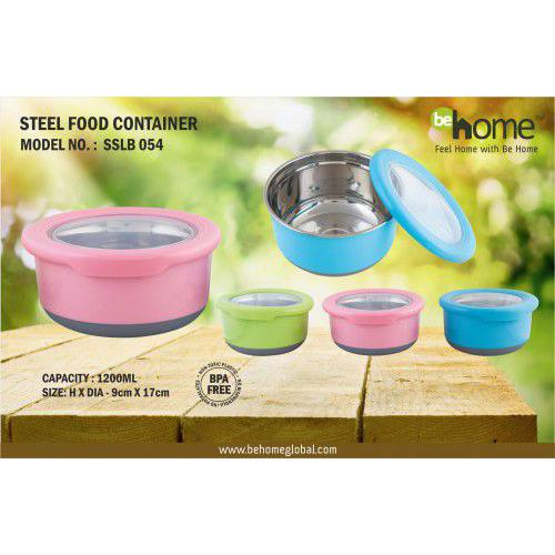 BeHome Steel Food Container SSLB - 054
