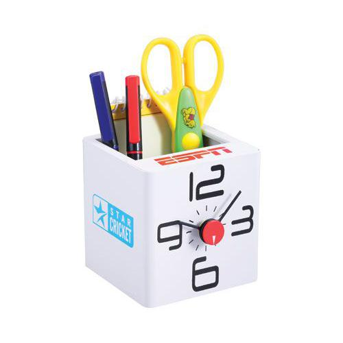 Cube Clock With Tumbler (White) ED 1301