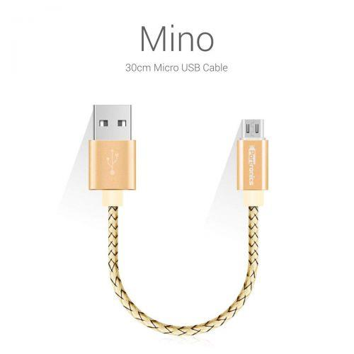 Portronics  Mino Smallest Micro USB Sync & Charge Cable (Gold) POR 636