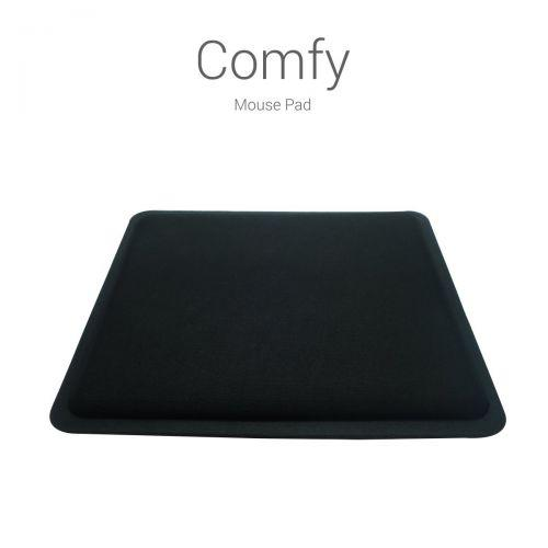 Portronics COMFY (black) - Memory Foam Mouse Pad for Ultra Comfort and Ergonomic Design for your Wri