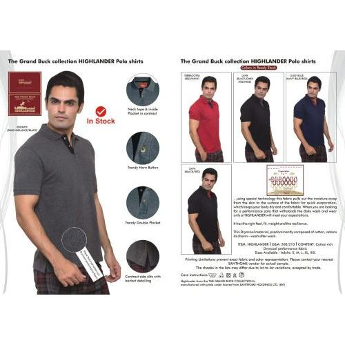 f79ae75cdc9d9 Santhome Highlander Polo T-Shirt in bulk for corporate gifting ...
