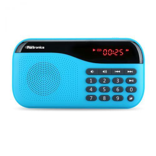 Portronics POR-142 Plugs Portable Speaker with FM & MicroSD card Support (Blue)