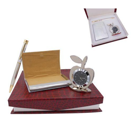 3-IN-1 APPLE-SILVER GIFT SET GS-031