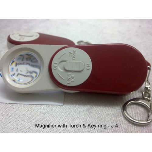 Key chain with Magnifier & Torch J04