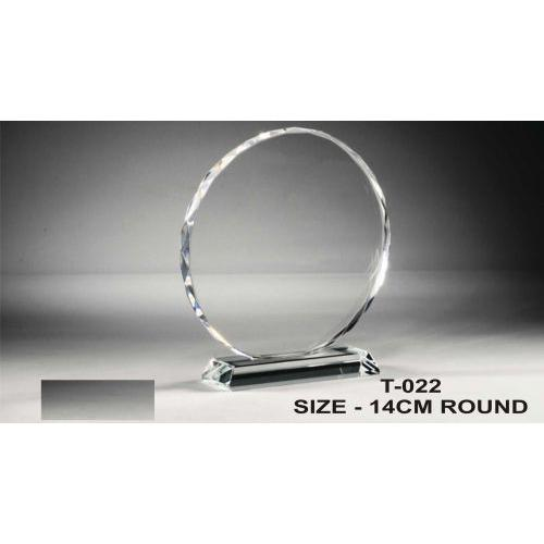 oval crystal trophy