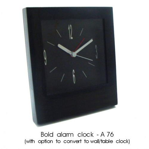 Bold alarm clock (with option to convert to wall