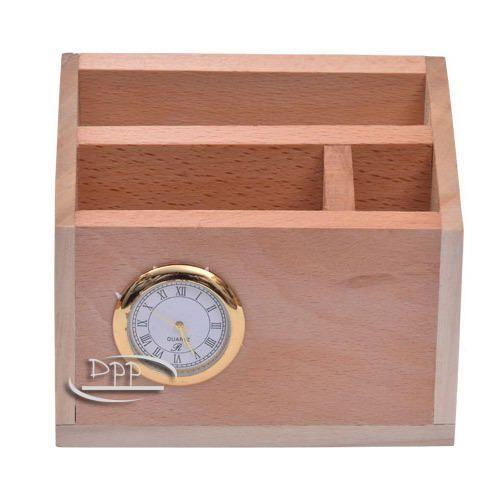 Wooden Pen Stand with clock DW 2011