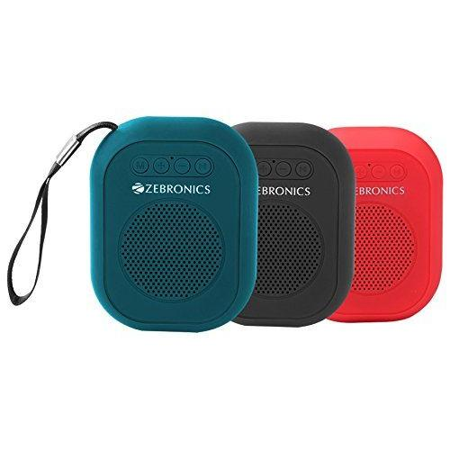 Zebronics Zeb-SAGA Ultra Portable Bluetooth Wireless Speaker with Built in FM/Call Function (Blue)