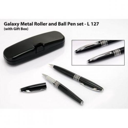 GALAXY METAL ROLLER AND BALL PEN SET (WITH GIFT BOX) L127