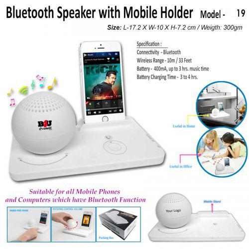 Bluetooth Speaker With mobile Holder 	A19
