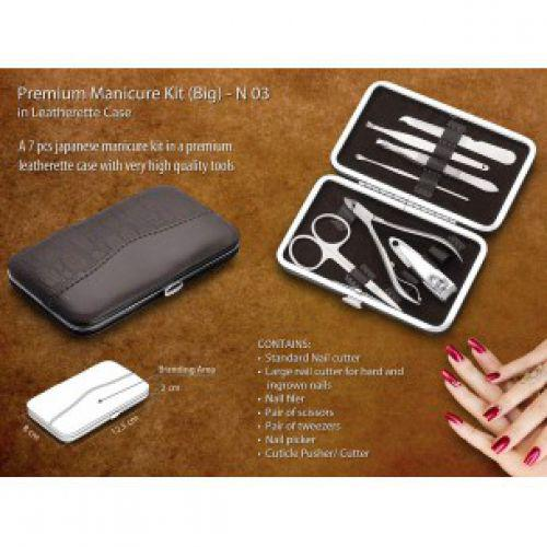 N03 - PREMIUM MANICURE KIT IN LEATHERETTE CASE (7 PC.) - LARGE