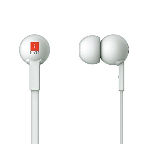 iBall Univo Colorstick Earphone With MIC - White/ Black