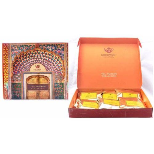 GOODWYN TRADITIONAL INDIAN TEA, TEA TASTER'S COLLECTION GIFT BOX (RHINO ASSAM, EARL GREY, GREEN, DAR