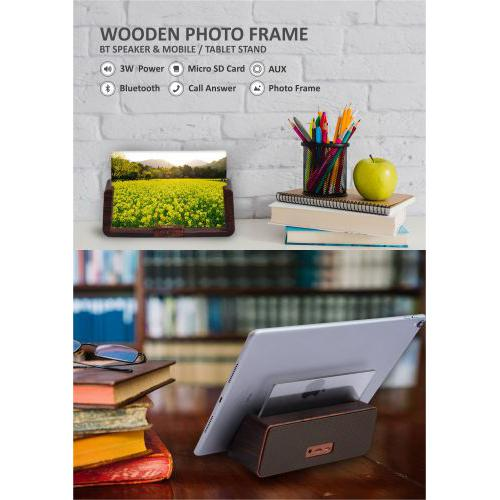 Xech Wooden BT Speaker with Photo Frame