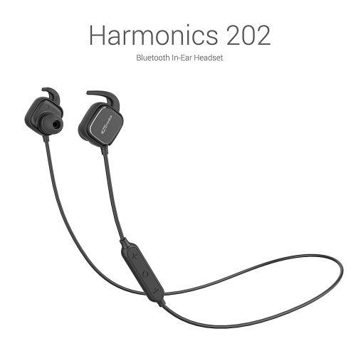 Portronics Harmonics 202 (Black) In-Ear Stereo Headphone With Smart Magnetic-Switch, Latest 4.1 Blue