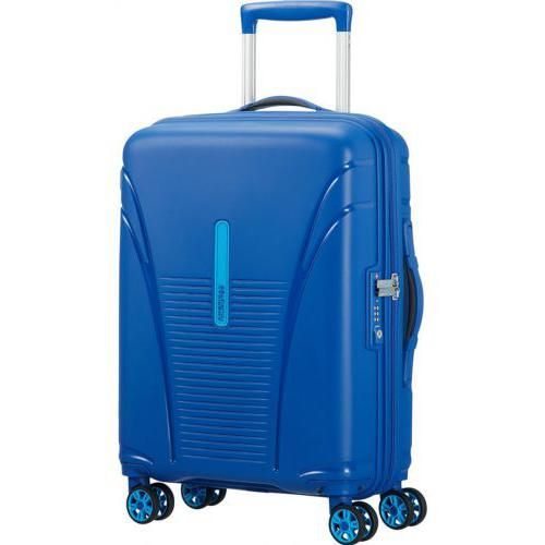 American Tourister Skytracer 55cm Highline Blue Hard Suitcase