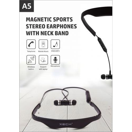 XECH A5 Magnetic Sports Stereo Earphones with Neck Band