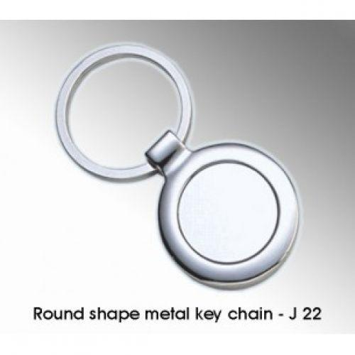 ROUND SHAPE METAL KEY CHAIN J22