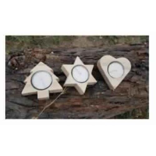 Multi Shaped Candles - Set of 3