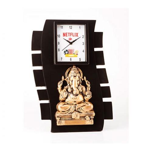 Wall Ganesha with Clock  ED 1804