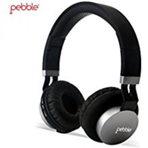 Pebble AUX Headphones Wave Black