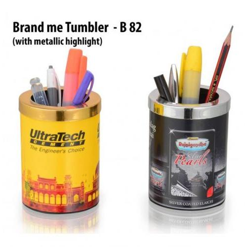 BRAND ME TUMBLER WITH METALLIC HIGHLIGHT (BRANDING INCLUDED) B82