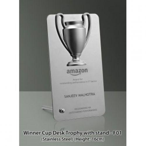SS WINNER CUP DESK TROPHY WITH STAND (IN GIFT BOX) F01