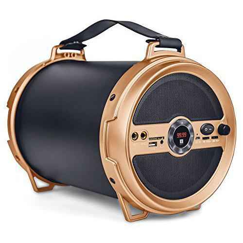 iBall Music Karaoke Barrel V 2.0 Bluetooth Portable Speaker With Wireless MIC & Remote Built in FM R