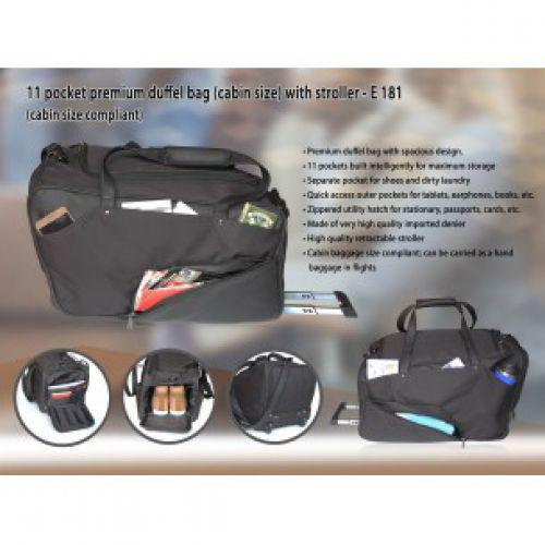 11 POCKET PREMIUM DUFFEL BAG (CABIN SIZE) WITH STROLLER E181