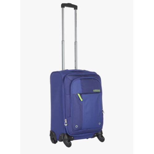American Tourister 55Cm Hugo Blue Soft Luggage Strolley